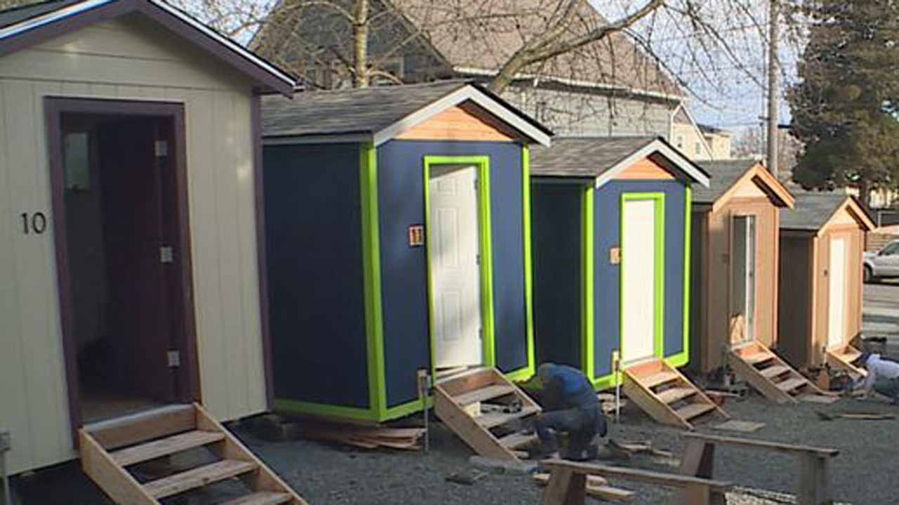 Seattle Has Tiny Houses For Homeless Maybe Rv Park Kgw Com