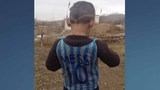 Photos: Afghan boy wears plastic Lionel Messi jersey