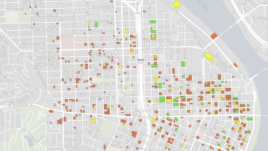 map shows 1800 portland buildings vulnerable in earthquake kgwcom