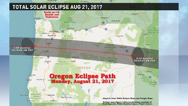 The sun will disappear for an hour and a half on Aug 21