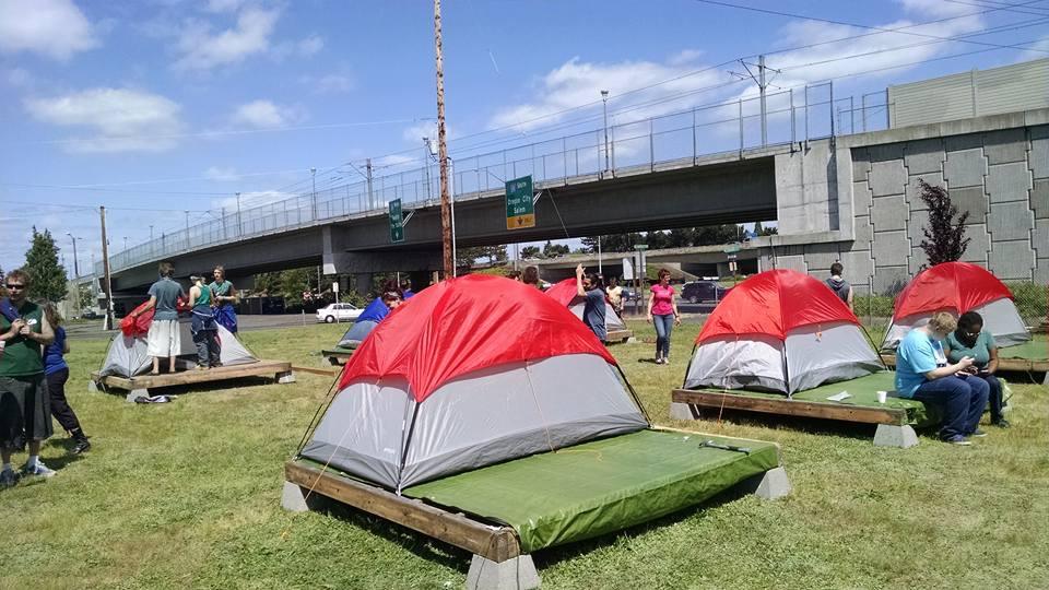 Homeless Shelter Pop Up : Kgw photos pop up shelter for homeless women