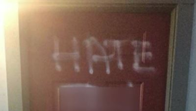 Image result for Hateful graffiti found on Portland apartment door